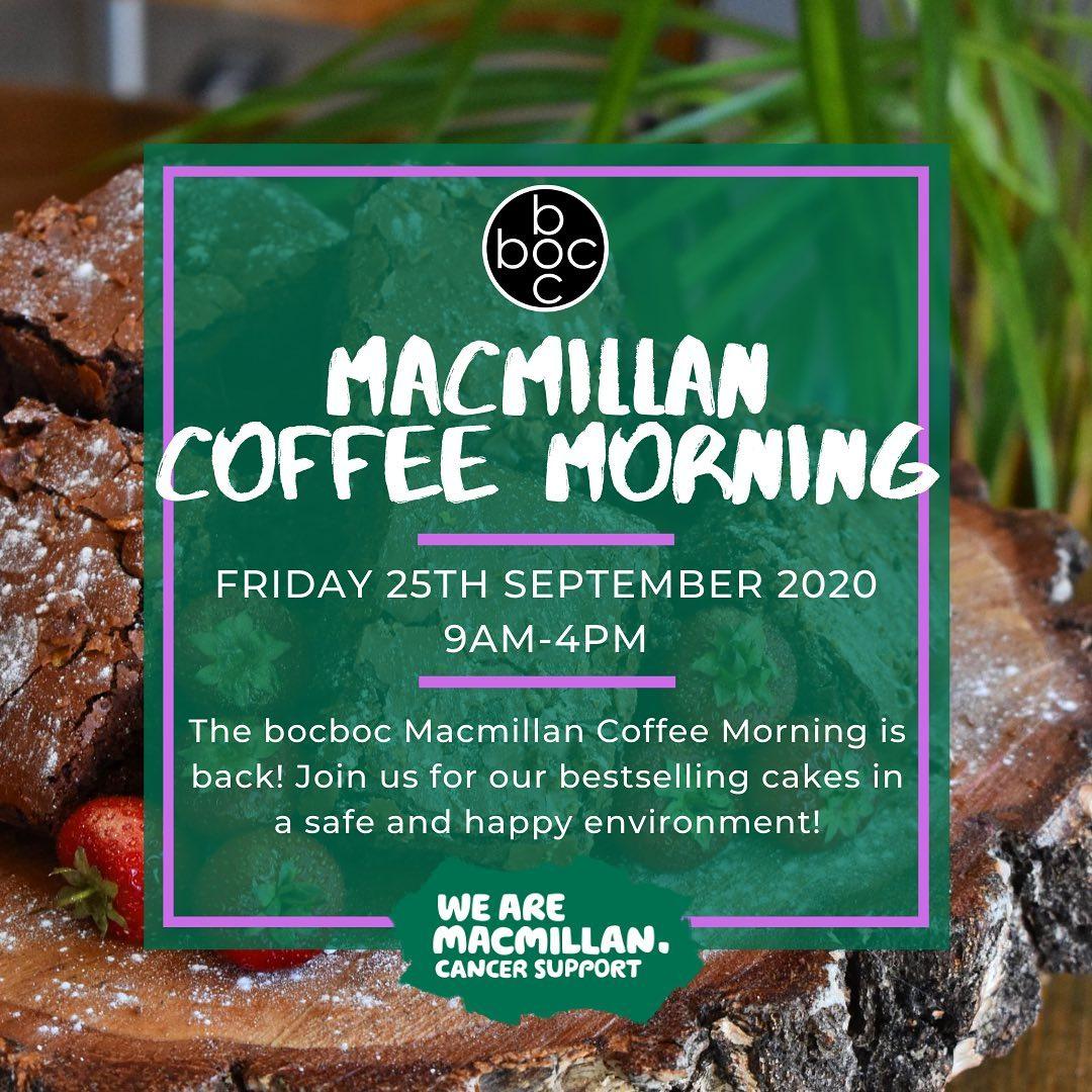 The bocboc Macmillan Coffee Morning